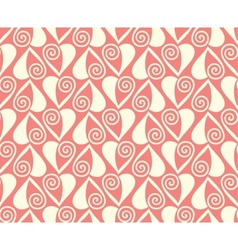 pink hearts seamless pattern valentines background vector image vector image