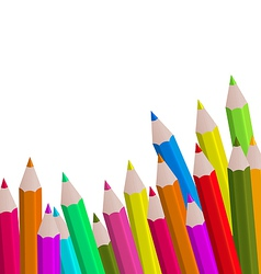 Set colorful pencils on white background vector image vector image