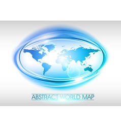 world abstract circle on white blue vector image vector image