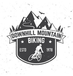 downhill mountain biking vector image