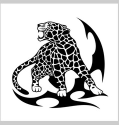 jaguar flame tattoo vector image vector image