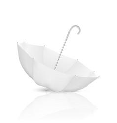 3d realistic render white blank umbrella vector