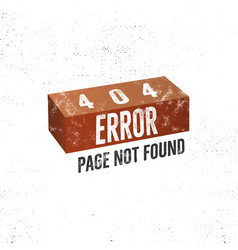 404 error page concept with brick concept vector image