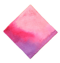 Abstract pink and purple square watercolor banner vector