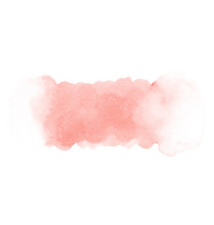 Abstract pink gradient watercolor stain on white vector