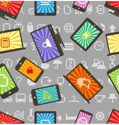 abstract style modern gadgets seamless pattern vector image