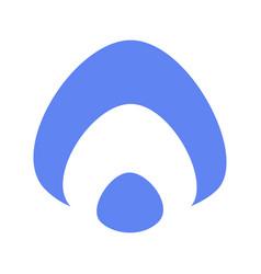 Aura icon russian flat blue white logo vector