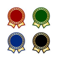 Award ribbon best set vector
