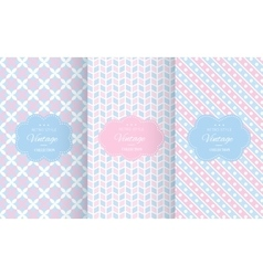 Baby pastel different seamless patterns vector