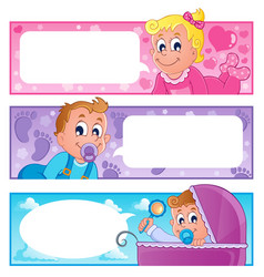 baby theme banners collection 1 vector image