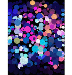 Blue and pink bubble with little line art texture vector