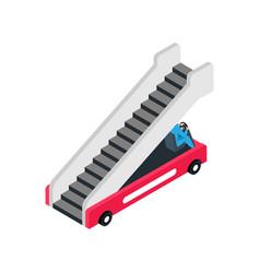 Boarding ramp icon vector