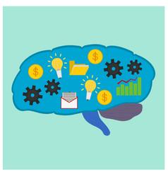 Brain business process idea icon vector