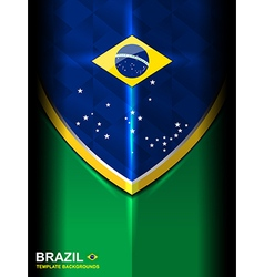 Brazil flag modern background vector