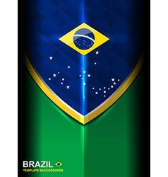 Brazil flag modern background vector