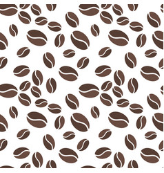 Brown coffee beens seamless pattern vector