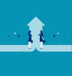 business deal concept business success vector image
