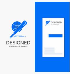 business logo for baseball basket ball game fun vector image