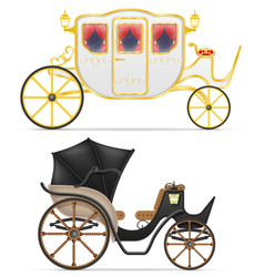 Carriage for transportation people vector
