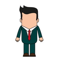 cartoon man profile vector image