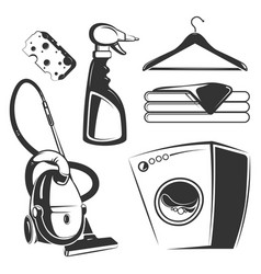 cleaning washing housework objects vector image