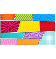 Comic bright horizontal background vector