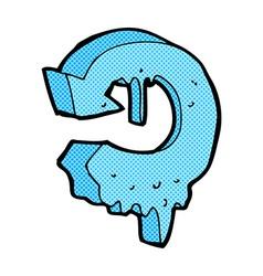 comic cartoon melting arrow symbol vector image