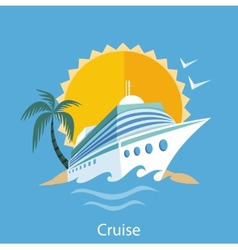 Cruise Ship Water Tourism vector