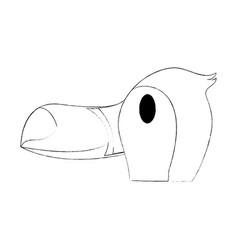 cute tucano bird vector image