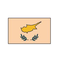 cyprus flag icon cartoon style vector image