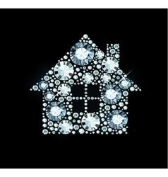 Diamond House Sign vector image