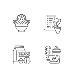 Diet linear icons set vector