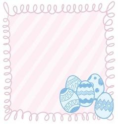 Doodle easter eggs frame vector