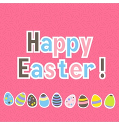 Easter colorful pink greeting card vector