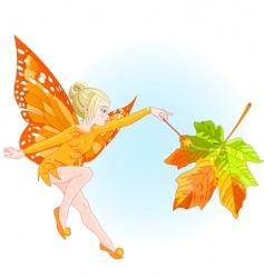 fairy autumn vector image
