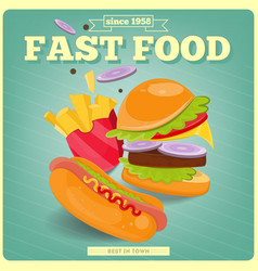 Fast Food Poster vector image