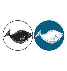 Fish halibut vector