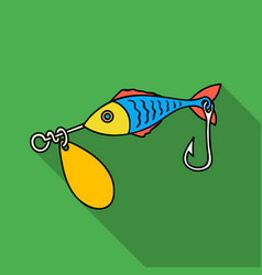 Fishing bait icon in flat style isolated on white vector