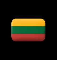 flag of lithuania matted icon and button vector image