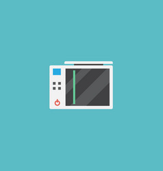 Flat icon game console element vector