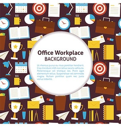 Flat pattern office workplace background vector