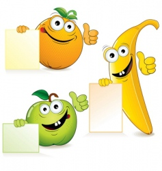 funny fruits vector image vector image
