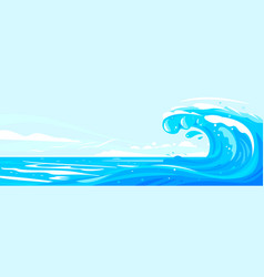 great beautiful wave at sea vector image