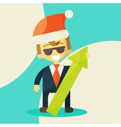 Happy businessman success in work vector