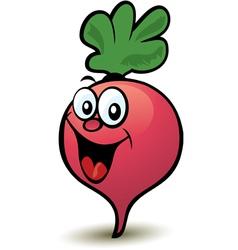 happy radish character vector image vector image