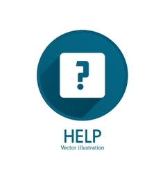 Help design Question mark icon Flat vector image