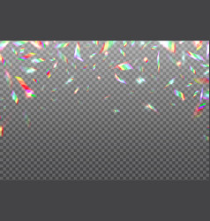 Hologram glitch rainbow background crystal vector