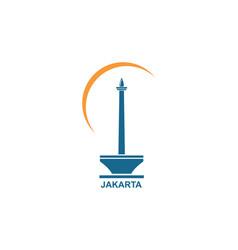 Indonesian menument icon design vector