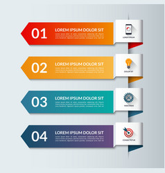 Infographic arrows template with 4 options vector image