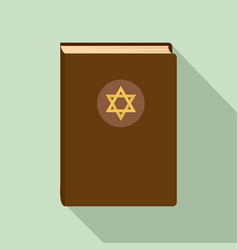 Judaism book icon flat style vector